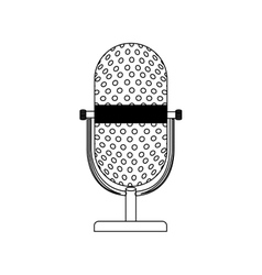 Monochrome contour with desktop microphone vector