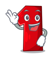 okay number one index finger on cartoon vector image