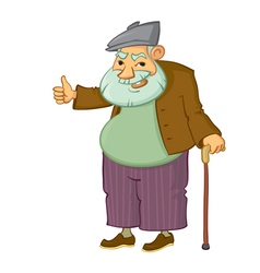 Old man vector