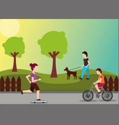People sport activity vector