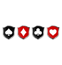 Poker card suits - hearts clubs spades vector