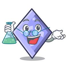 Professor rhombus character cartoon style vector
