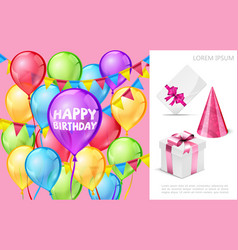 realistic birthday party composition vector image