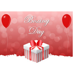 red boxing day design with flying balloons vector image