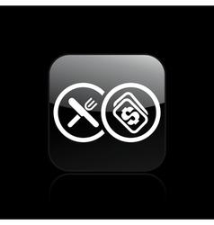 restaurant cost icon vector image