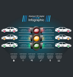 Road infographic design template and marketing vector