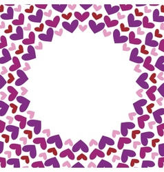 Round frame with hearts vector image