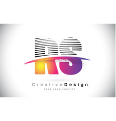 Rs r s letter logo design with creative lines and vector