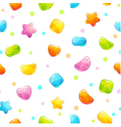 Seamless pattern with funny cartoon jelly candies vector