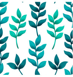 seamless pattern with turquoise and green tropical vector image