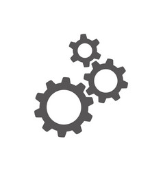 settings gears cogs flat icon for apps and vector image