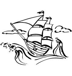 Ship clip art vector image