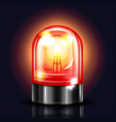 Siren red alarm light 3d vector