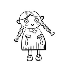 sketch doll icon vector image