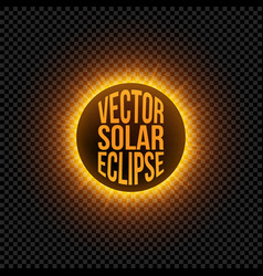 Solar eclipse graphic element vector