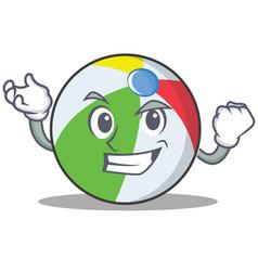 Successful ball character cartoon style vector