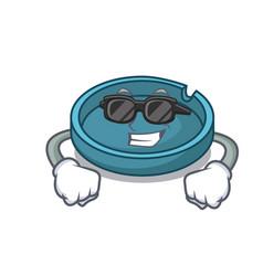 Super cool ashtray character cartoon style vector