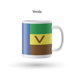Venda flag souvenir mug on white background vector