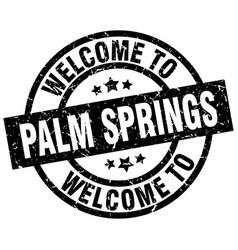 Welcome to palm springs black stamp vector