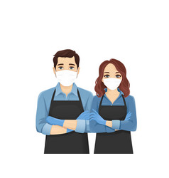 woman in apron vector image