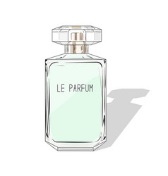woman perfume bottle fashion cosmetics vector image