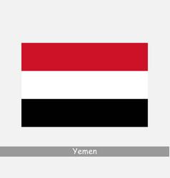 yemen yemeni national country flag banner icon vector image
