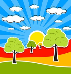 Abstract Retro Landscape vector image vector image