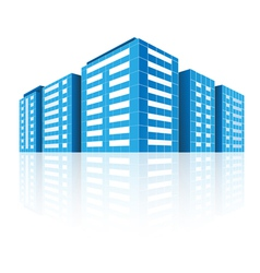 Icons of buildings vector image