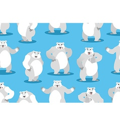 Polar Bear seamless pattern Set a wild animal Wild vector image vector image