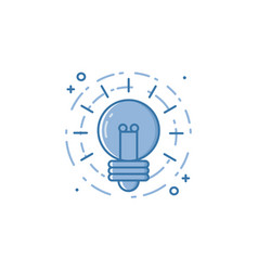 business of light bulb in flat vector image vector image