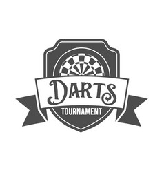 darts label badge log vector image