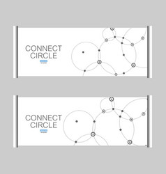 pattern with connected circles and dots vector image vector image