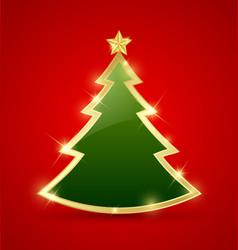 Simple christmas tree vector