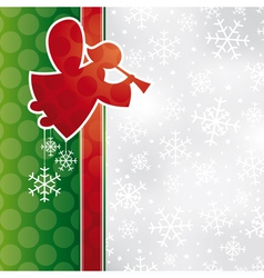 abstract christmas card with angel vector image vector image