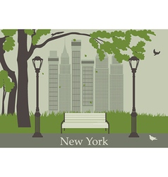 Central Park in New York vector image
