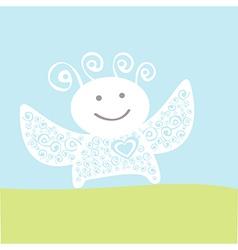 happy angel vector image