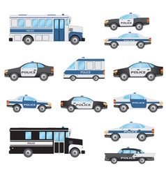 Set of police cars vector image vector image