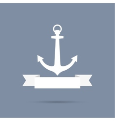 Anchor with ribbon vector image vector image