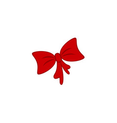 a bow of the present icon party vector image