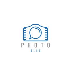 Abstract icon design template photo blog vector