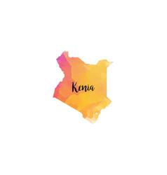 Abstract kenia map vector