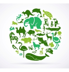 Animal green world - huge collection icons vector