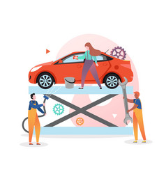 Auto repair and wash concept for web banner vector
