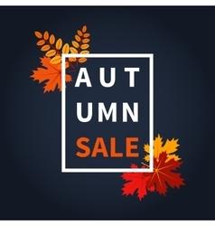 Autumn fall sale vector
