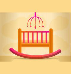 baby crib concept banner cartoon style vector image