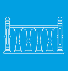Balustrade icon outline style vector