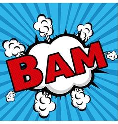 Bam comics icon over blue background vector