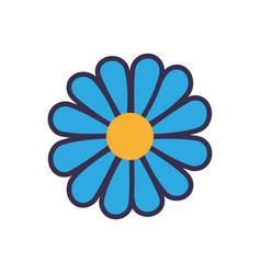 Blue flower flat vector