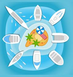 boats and yachts vector image