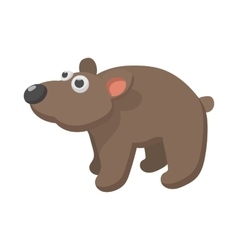 Brown bear icon cartoon style vector